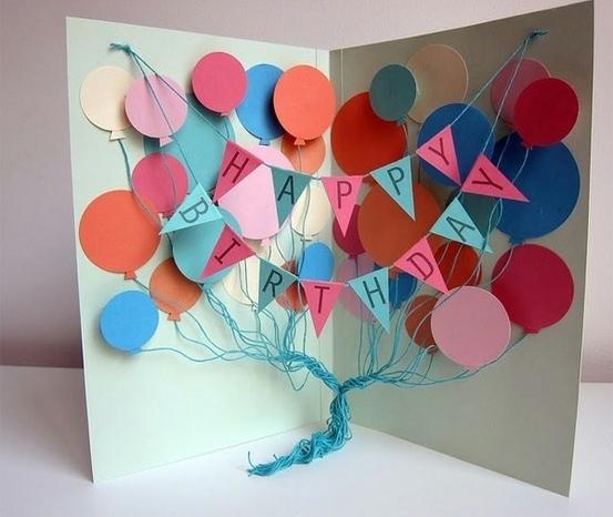 Необычные открытка с днем рождения своими руками